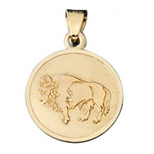 Anhänger Sternzeichen Stier 333 Gold Gelbgold matt Sternzeichenanhänger