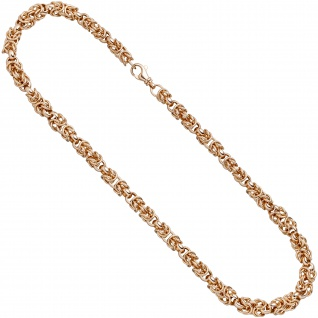 Collier Halskette 925 Sterling Silber rotgold vergoldet 50 cm Kette