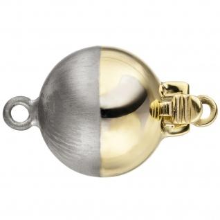 Kettenschließe Schließe 585 Gold Gelbgold Weißgold bicolor mattiert