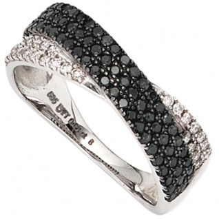 Damen Ring 585 Gold Weißgold mit Diamanten Brillanten 0, 67ct. Weißgoldring