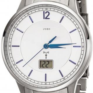 JOBO Herren Armbanduhr Funk Funkuhr Titan Datum Herrenuhr - Vorschau 2