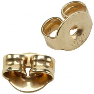 Pousetten 585 Gold Gelbgold Goldpousetten Verschluss für Ohrstecker