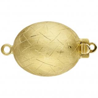 Kettenschließe Schließe 585 Gold Gelbgold eismatt Kettenverschluss