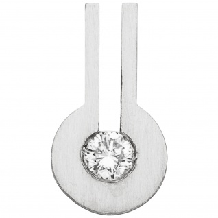 Anhänger 950 Platin matt 1 Diamant Brillant 0, 10ct.
