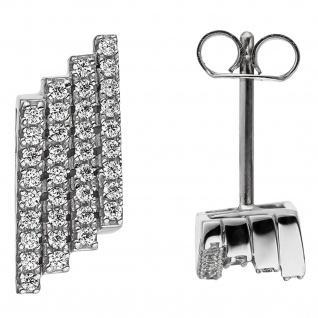 Ohrstecker 925 Sterling Silber mit Zirkonia Ohrringe Silberohrstecker