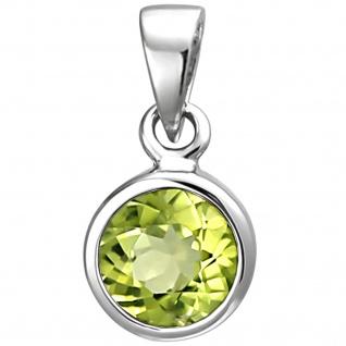 Anhänger 925 Sterling Silber 1 Peridot grün