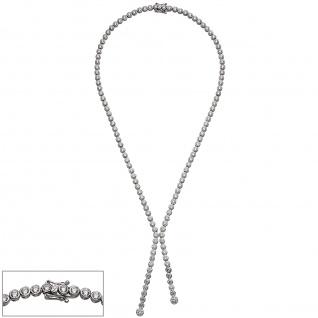 Collier Halskette 925 Sterling Silber mit Zirkonia 42 cm Kette Silberkette