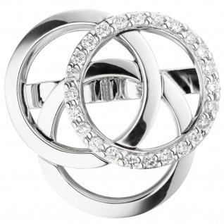 Perlclip Perlraffer Rafferschließe 585 Gold Weißgold 24 Diamanten Brillanten