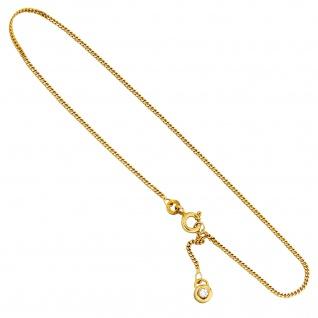 Fußkettchen Fußkette 333 Gold Gelbgold 2 Zirkonia 25 cm Federring