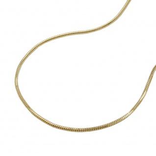 Kette 0, 8mm Schlange 5-kant 9Kt GOLD 42cm