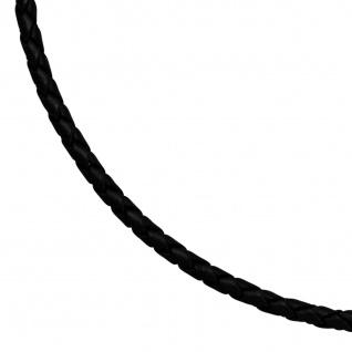 Leder Halskette Kette Schnur schwarz 45 cm Karabiner 925 Silber - Vorschau 2