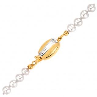 Kettenschließe Schließe 585 Gold Gelbgold bicolor mattiert Kettenverschluss