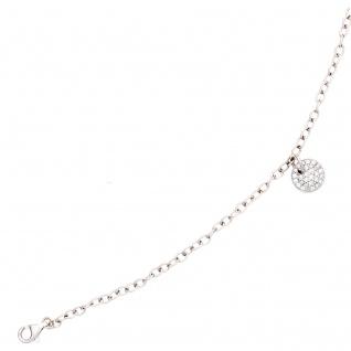 Armband 585 Gold Weißgold 29 Diamanten Brillanten 18, 5 cm Weißgoldarmband - Vorschau 2