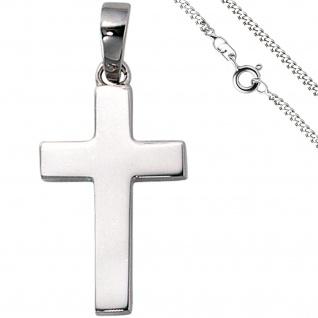 Anhänger Kreuz 925 Silber Kreuzanhänger Silberkreuz mit Kette 60 cm