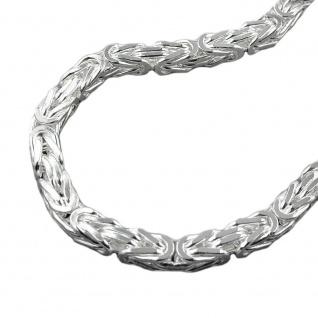 Kette ca. 8mm Königskette vierkant glänzend Silber 925 60cm
