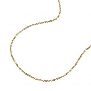 Kette 1, 1mm Ankerkette rund 9Kt GOLD 50cm