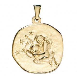 Anhänger Sternzeichen Wassermann 333 Gold Gelbgold Sternzeichenanhänger - Vorschau