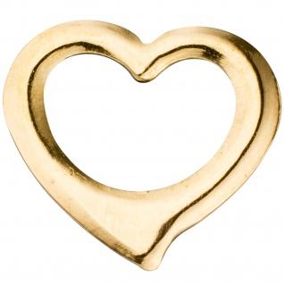Kinder Anhänger Herz Schwingherz 585 Gold Gelbgold Herzanhänger Kinderanhänger