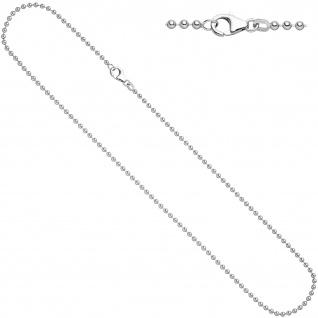 Kugelkette 925 Silber 1, 4 mm 45 cm Halskette Kette Silberkette Karabiner