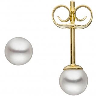 Ohrstecker 333 Gold Gelbgold 2 Süßwasser Perlen 4, 5 mm