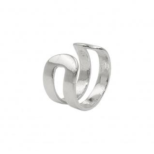 Ohrklemme Ohrring ear cuff 11x5mm Doppelsteg glänzend Silber 925