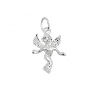 Anhänger 18x13mm hübscher Engel Silber 925