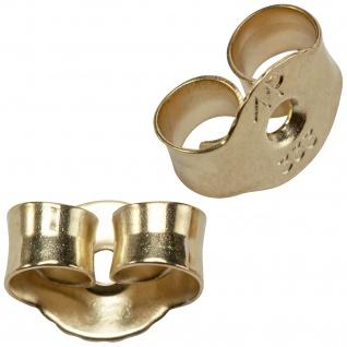 Pousetten 333 Gold Gelbgold Goldpousetten Verschluss für Ohrstecker