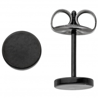 Ohrstecker Studs 6 mm aus Edelstahl schwarz beschichtet Ohrringe