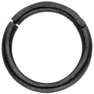 Segmentring Edelstahl schwarz mit Klick-System Scharnier Ringstärke 1, 2 mm
