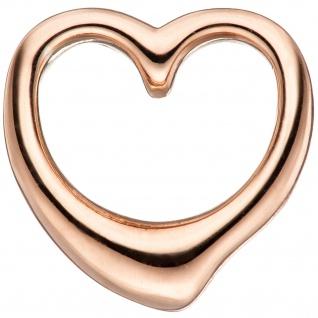 Kinder Anhänger Herz 925 Sterling Silber rotgold vergoldet Herzanhänger