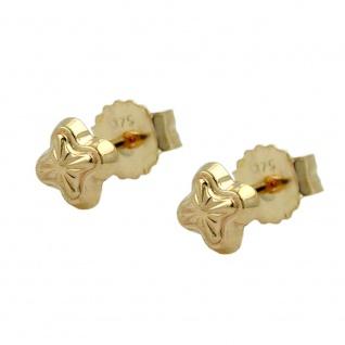 Stecker 4mm Stern mit Muster 9Kt GOLD