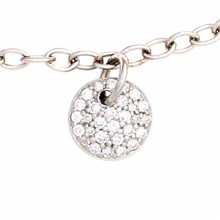 Armband 585 Gold Weißgold 29 Diamanten Brillanten 18, 5 cm Weißgoldarmband - Vorschau 1