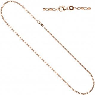 Ankerkette 925 Silber rotgold vergoldet 80 cm Kette Halskette Karabiner