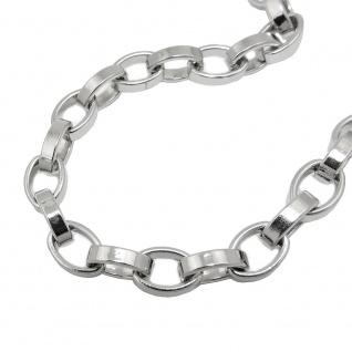 Armband 6, 4mm Ankerkette oval Edelstahl 21cm