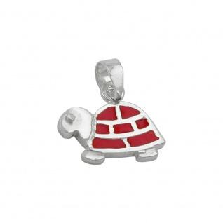 Anhänger 11x13mm Schildkröte rot emailliert Silber 925