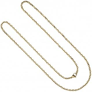 Halskette Kette Ankerkette Edelstahl gold farben beschichtet 70 cm - Vorschau 2