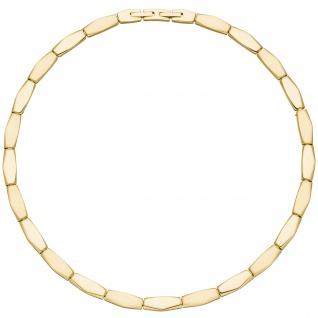 Collier Halskette Edelstahl gold-farben beschichtet 46 cm