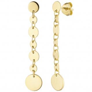 Ohrhänger 925 Sterling Silber gold vergoldet Ohrringe
