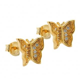 Stecker 8x10mm Schmetterling vergoldet 3 Mikron