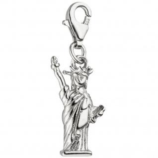 Einhänger Charm Freiheitsstatue 925 Sterling Silber