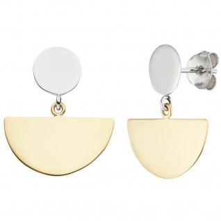 Ohrhänger 925 Silber bicolor vergoldet Ohrringe