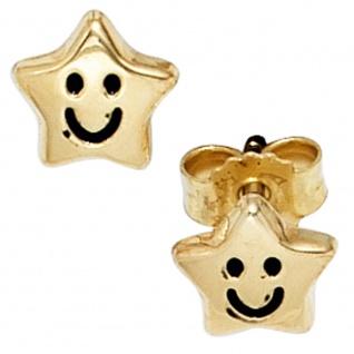 Kinder Ohrstecker Stern Sterne 333 Gold Gelbgold Ohrringe Kinderohrringe