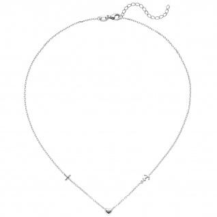 Collier Halskette Glaube Liebe Hoffnung 925 Sterling Silber 43 cm
