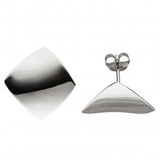 Ohrstecker eckig 925 Sterling Silber Ohrringe Silberohrringe