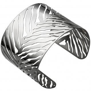 Armspange / offener Armreif aus Edelstahl Armband breit