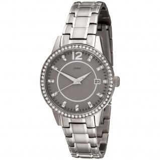 JOBO Damen Armbanduhr Quarz Analog Titan mit Kristallsteinen Damenuhr Datum