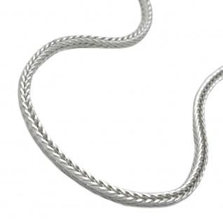 Kette 1, 5mm Fuchsschwanzkette vierkant Silber 925 50cm