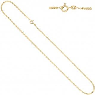 Panzerkette 333 Gelbgold 2, 1 mm 50 cm Gold Kette Halskette Goldkette Federring
