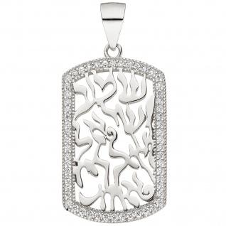 Anhänger 925 Sterling Silber 56 Zirkonia Silberanhänger