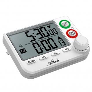 Atlanta 238 Kurzzeitmesser digital mit Magnet Küchen Timer 2 Zeiten